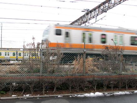 寒くても電車観察