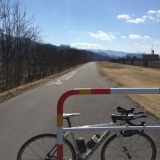 20160302CAAD10千曲川サイクルロード