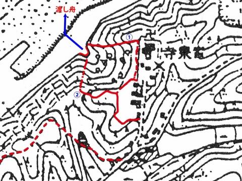 明治時代の地形図裏参道