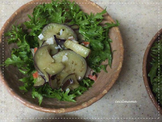 わさび菜のサラダ_1