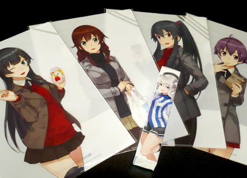 ローソン×艦隊これくしょん -艦これ- キャンペーン 阿賀野型四姉妹クリアファイル&鹿島タペストリー