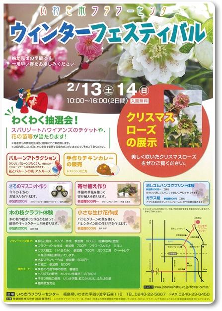 0213~14いわき市フラワーセンター「ウィンターフェスティバル」blog