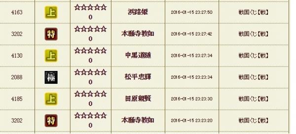 戦くじ2 履歴2