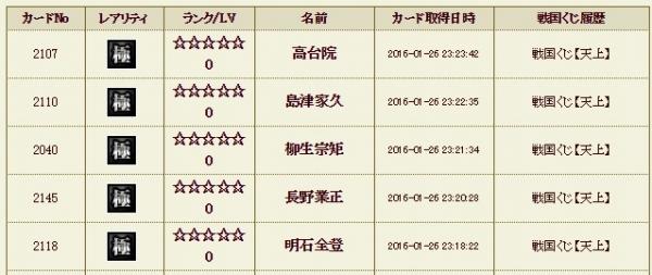 天上くじ8 履歴