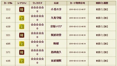 戦くじ4 メイン履歴