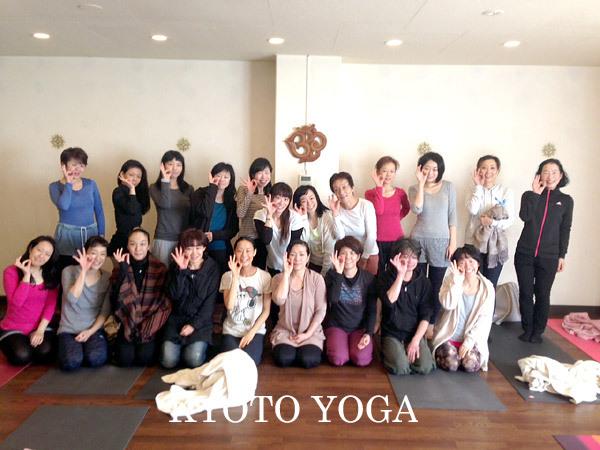 12月ヨウコ先生 太陽礼拝108回ワークショップ2015年 京都ヨガ
