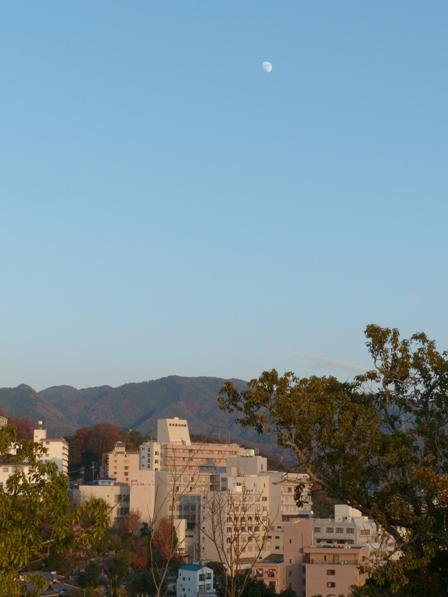 道後公園展望台から 月