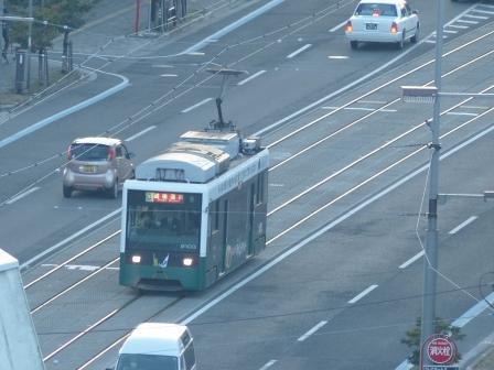 道後公園展望台から 路面電車 1