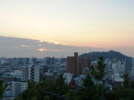道後公園展望台からの夕景 2