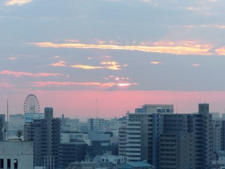 道後公園展望台からの夕景 3