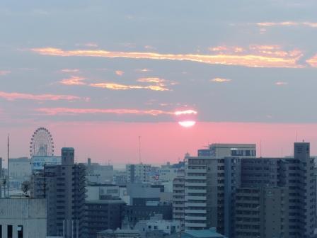 道後公園展望台からの夕景 4