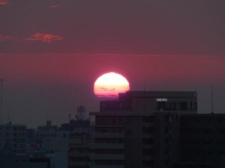 道後公園展望台からの夕景 8