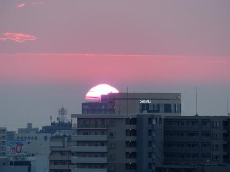 道後公園展望台からの夕景 9