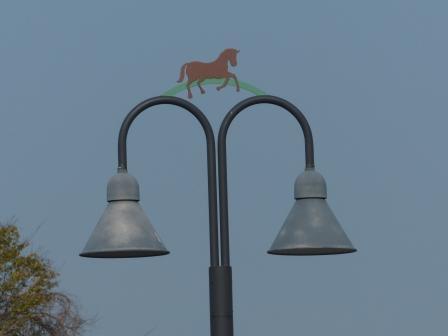 のまうまハイランド 街灯