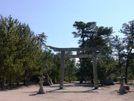 志島ヶ原・綱敷天満神社 鳥居 1