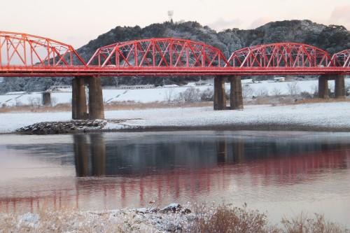 雪の四万十川2