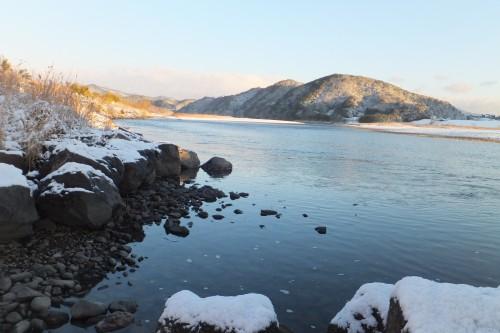 雪の四万十川7