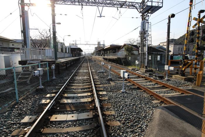 阪急嵐山線と松尾大社駅