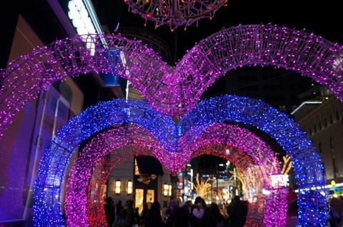 明洞_クリスマス_イルミ_2015年 (23)