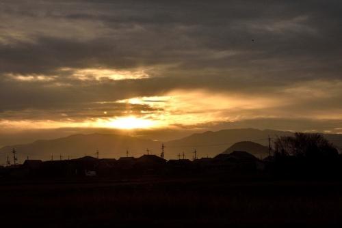 藤原京夕陽
