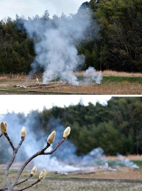 藤原京の野焼き