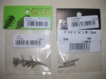stratocaster pickguard and end pin screws