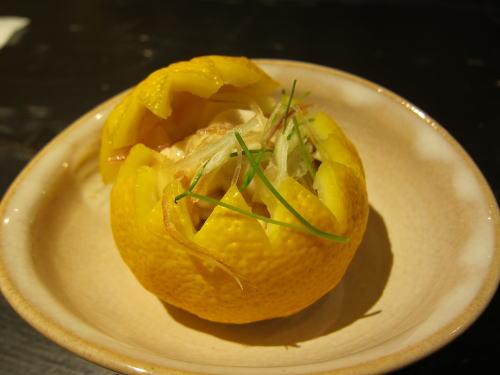 白子の柚子釜