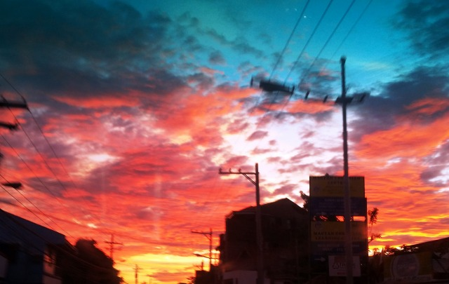 マクタンの夕焼け