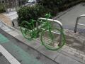 緑の自転車1