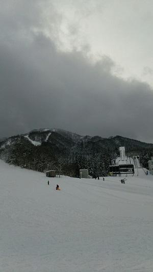 花輪スキー場下部