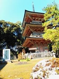 ④安楽寺三重塔