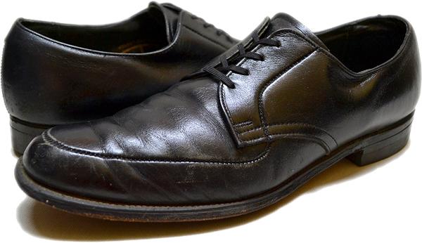 USEDレザーシューズ黒革靴@古着屋カチカチ01