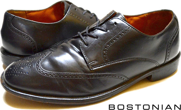 USEDレザーシューズ黒革靴@古着屋カチカチ03