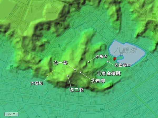 東金城地形図
