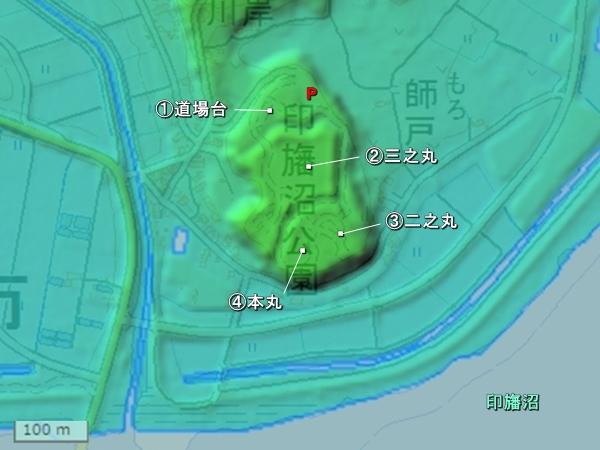 師戸城地形図