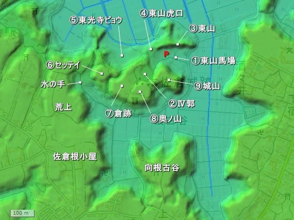 本佐倉城地形図