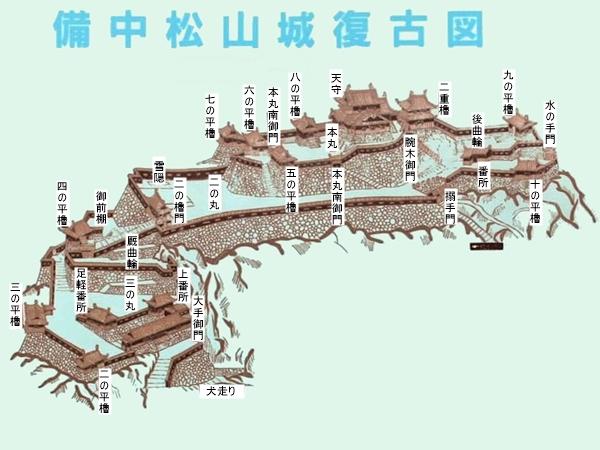 備中松山城復古図