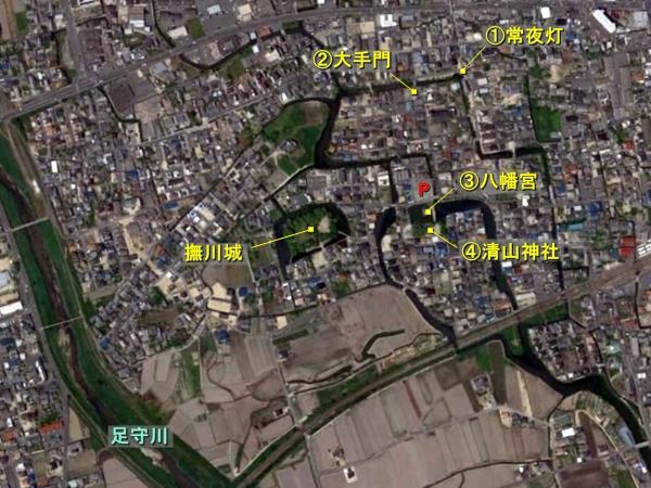 庭瀬城航空写真
