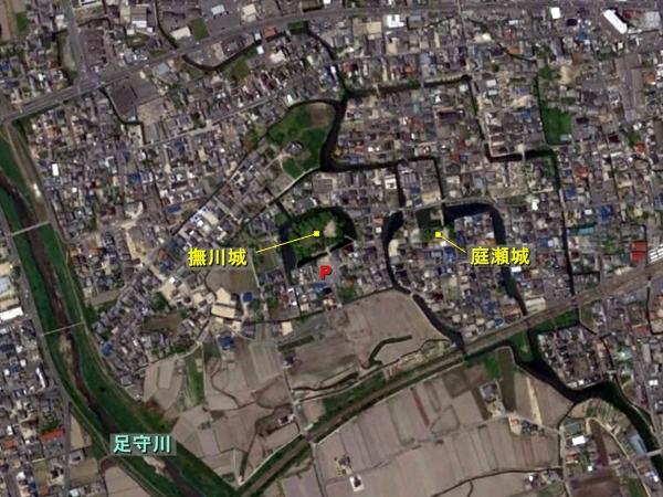 撫川城航空写真