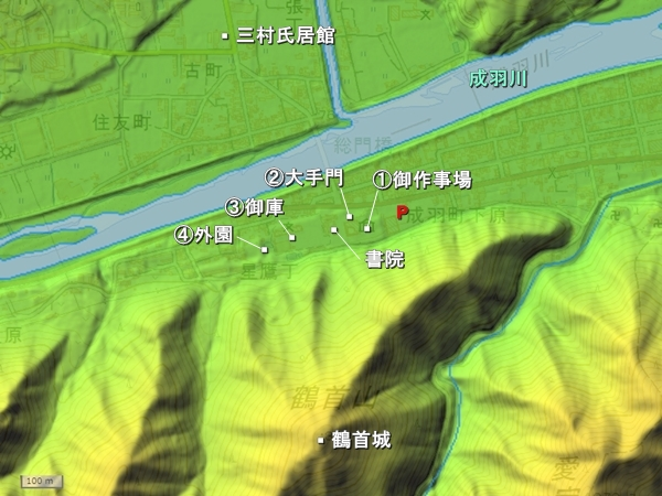 成羽陣屋地形図