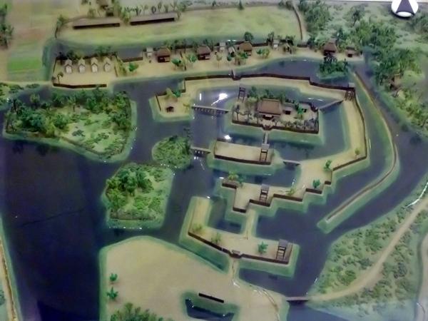 難波田城模型