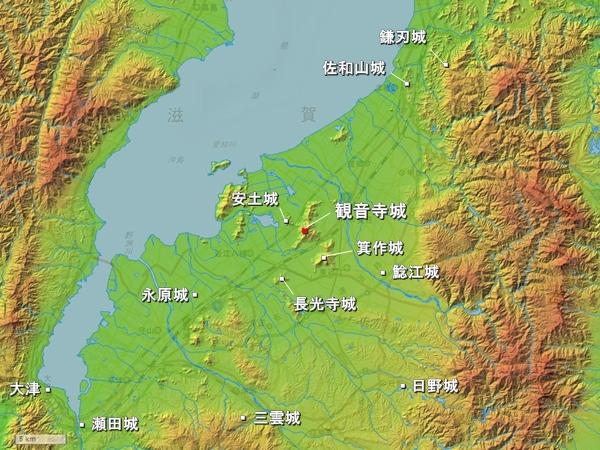 観音寺城広域図