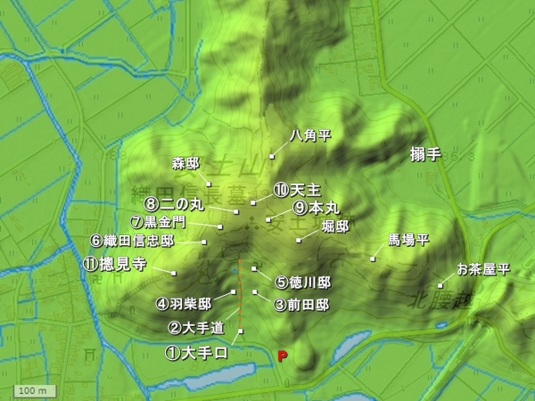 安土城地形図