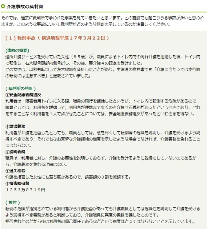 横浜地裁H17年3月22日転倒