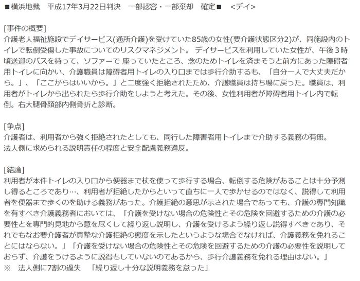 横浜地裁H17年3月22日転倒2