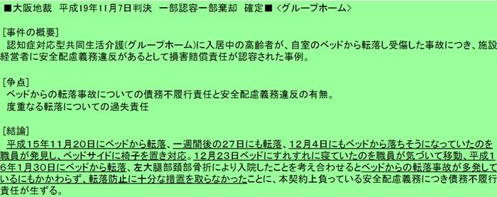大阪地裁H19年11月7日転落