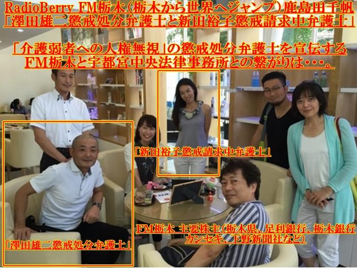 澤田雄二・新田裕子・鹿島田千帆・FM栃木
