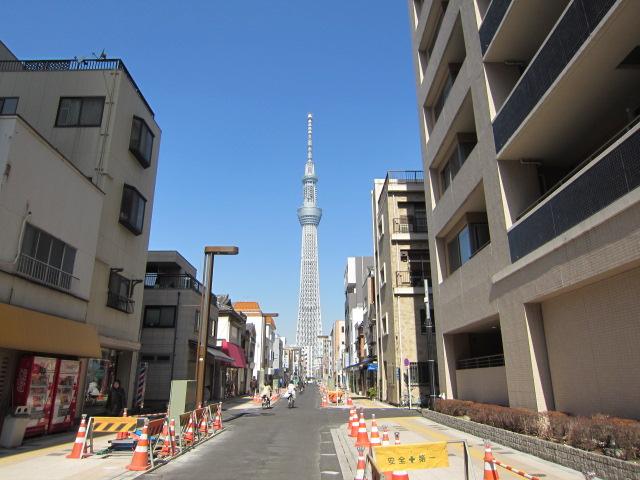 錦糸町から押上方面へ
