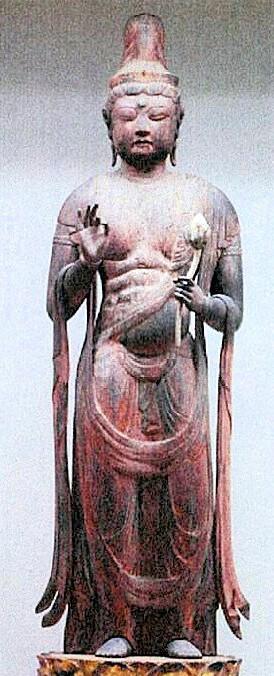 文化庁・平成21年度購入・木造聖観音立像