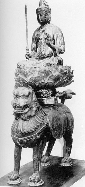 文化庁平成26年度購入・圓證寺旧蔵・文殊菩薩騎獅像